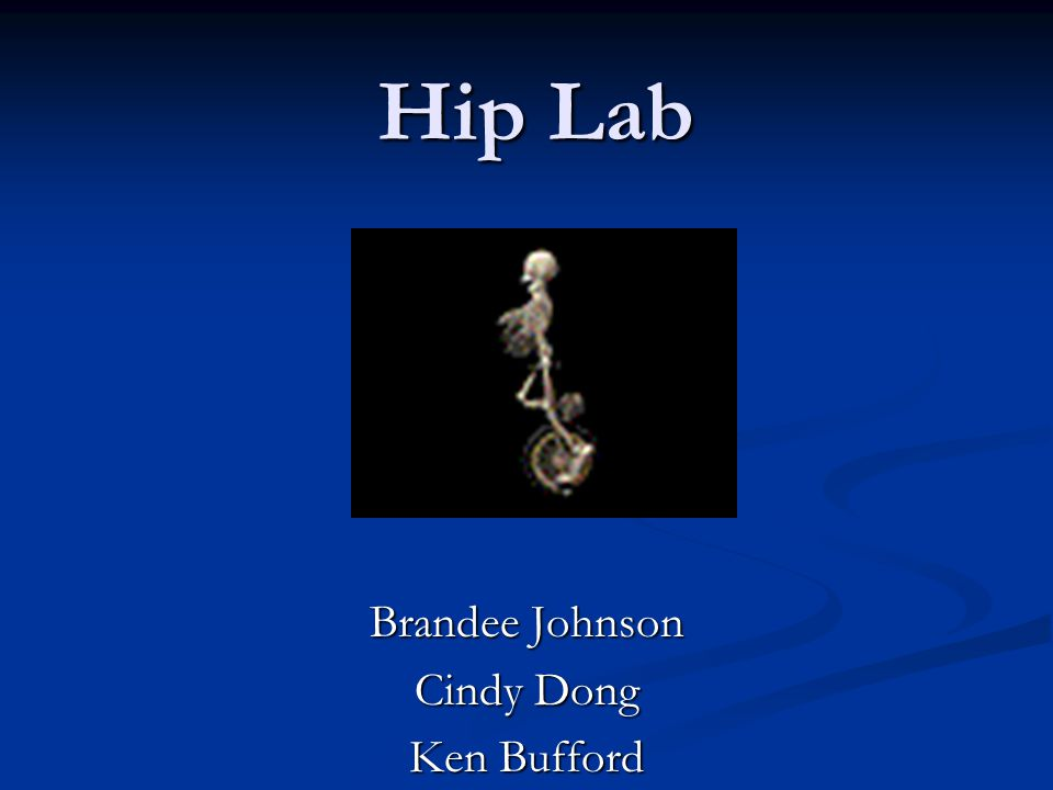 Hip Lab Brandee Johnson Cindy Dong Ken Bufford