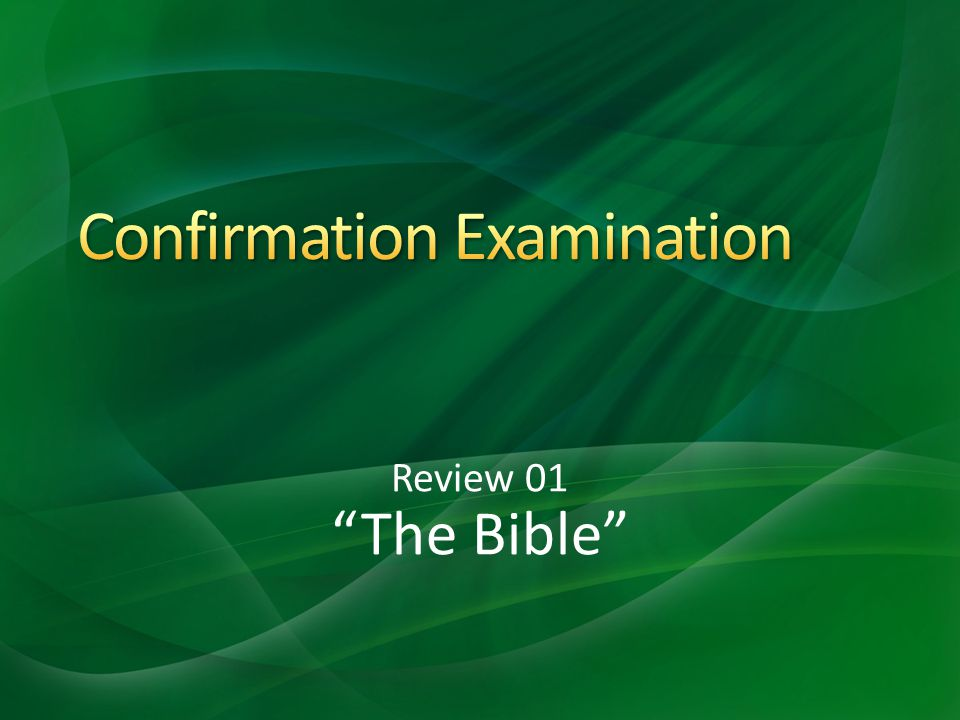 Review 01 The Bible