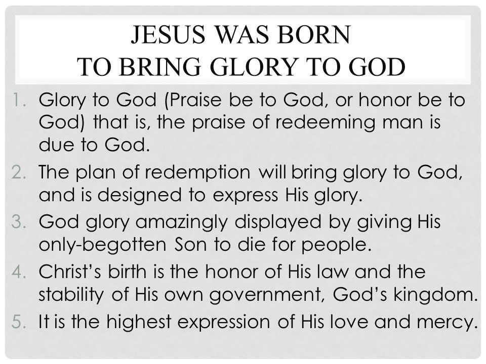 ways to bring glory to god essay If you believe in a benevolent, personal god, you likely want to hear from him and experience his presence in your everyday lifewe all do, don't we we want to be assured that we follow a god who is dialed in—that he has our numbers and uses them.