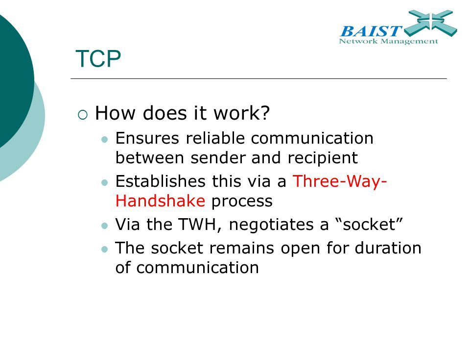 TCP  How does it work.
