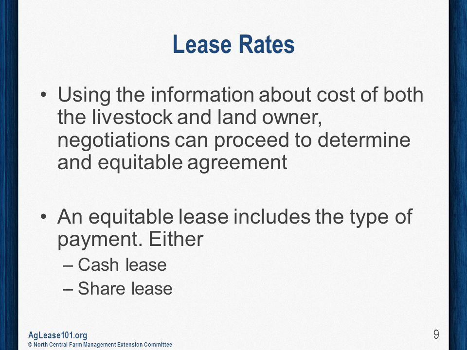 Pasture Rental Arrangements Aglease101 A Product Of The North