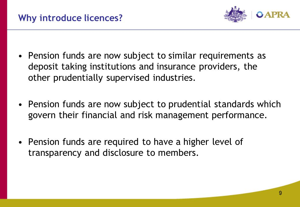 9 Why introduce licences.