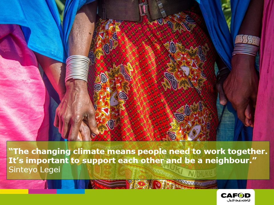 The changing climate means people need to work together.