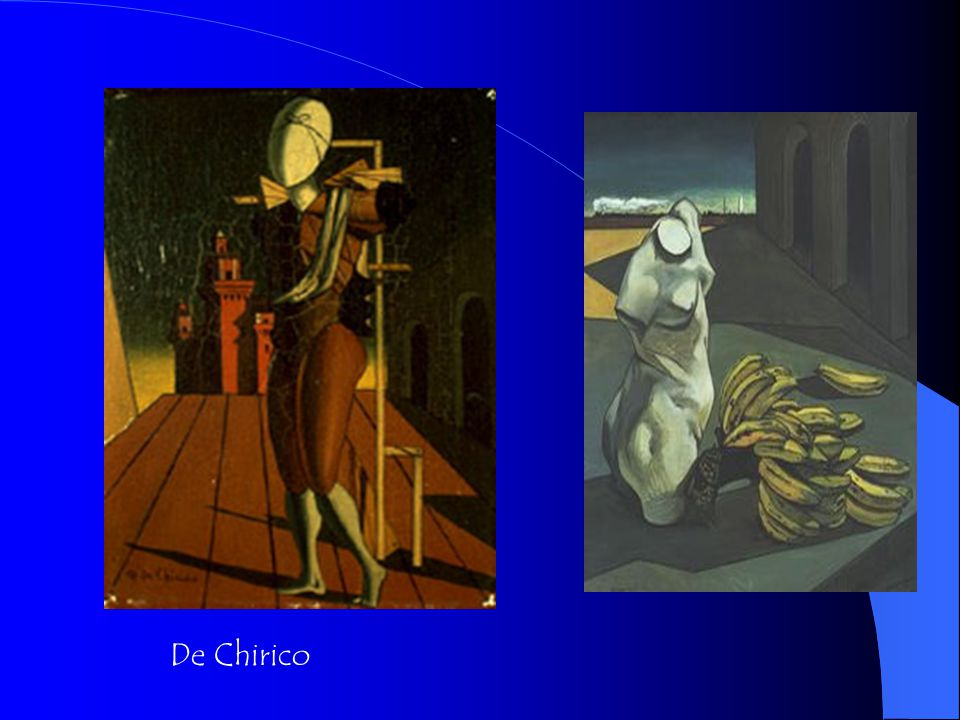 Georgio De Chirico Painted nightmare fantasies 15 years before the Surrealists existed.