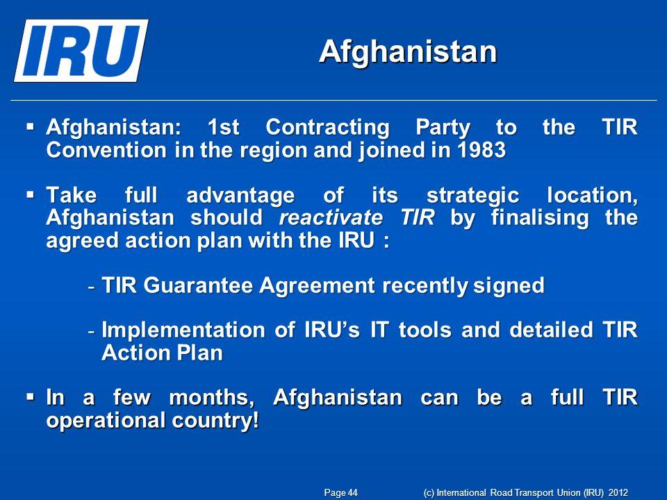 C International Road Transport Union Iru 2012 Eco Meeting On