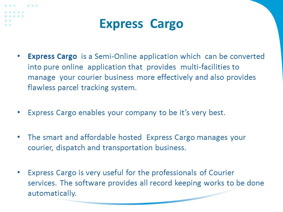 Express Cargo Courier Management System  Express Cargo Express Cargo