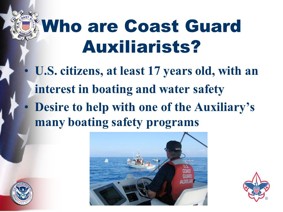 Who are Coast Guard Auxiliarists. U.S.
