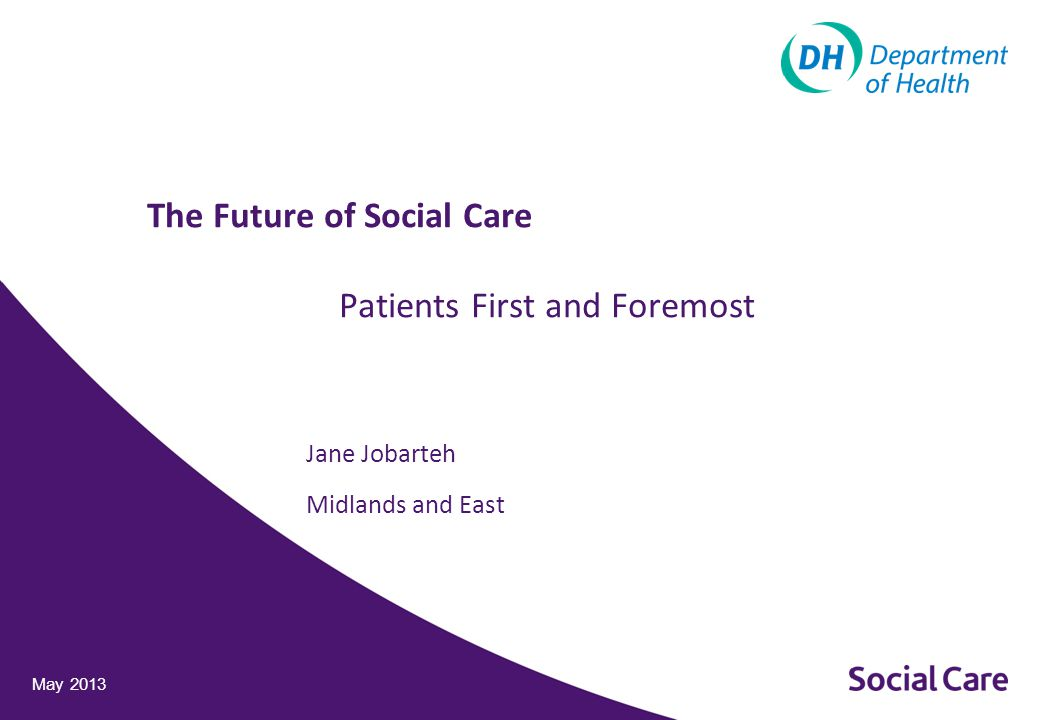 Jane Jobarteh Midlands and East May 2013 The Future of Social Care Patients First and Foremost