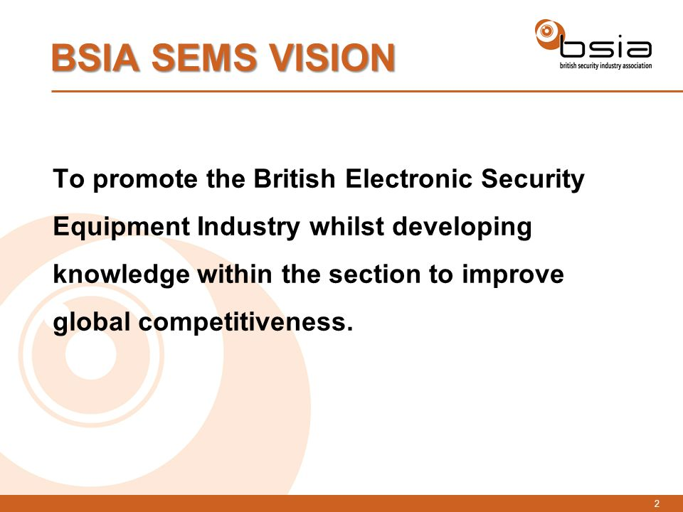 1 BSIA SEMS Strategy British Security Industry Association Security