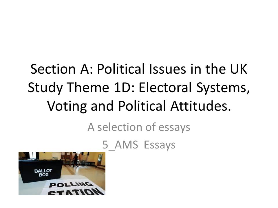 Essays For High School Students To Read Section A Political Issues In The Uk Study Theme D Electoral Systems  Voting Interesting Persuasive Essay Topics For High School Students also Thesis Statement In An Essay Section A Political Issues In The Uk Study Theme D Electoral  The Importance Of English Essay
