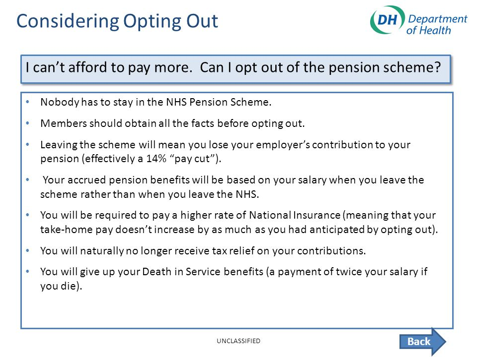 Nhs Pension Opt Out >> Nhs Pension Opt Out Best Upcoming Car Release 2020