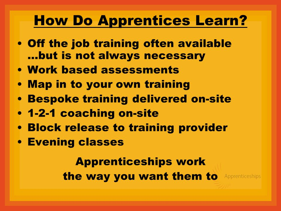 How Do Apprentices Learn.