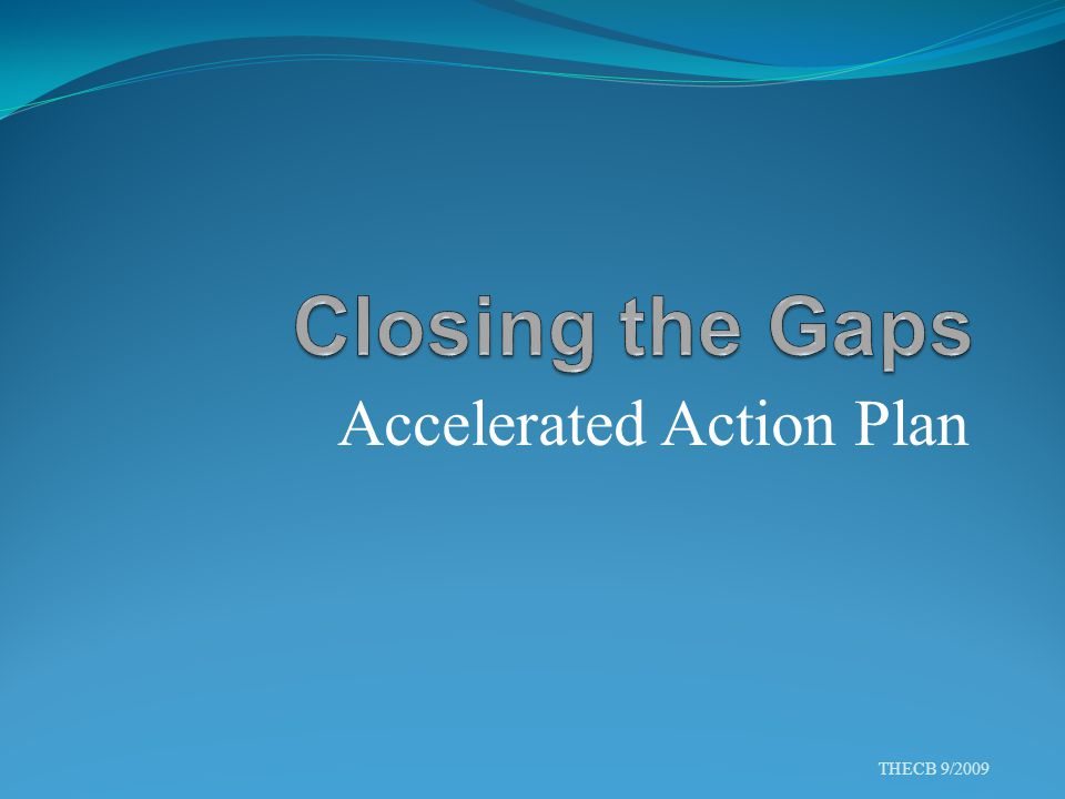 Accelerated Action Plan THECB 9/2009