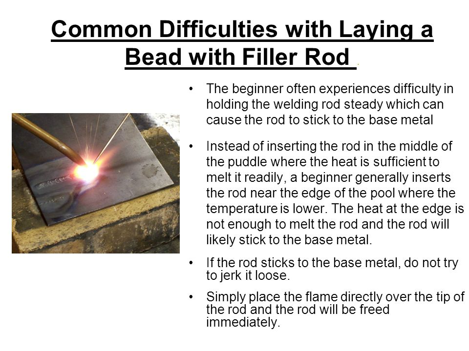 Common Difficulties with Laying a Bead with Filler Rod.