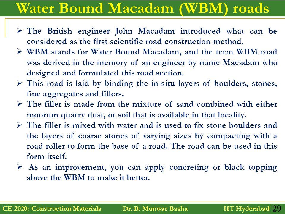 Wbm road construction procedure ppt