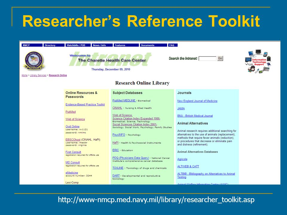 Researcher's Reference Toolkit