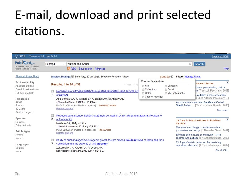 , download and print selected citations. 35Alaqeel, Sinaa 2012