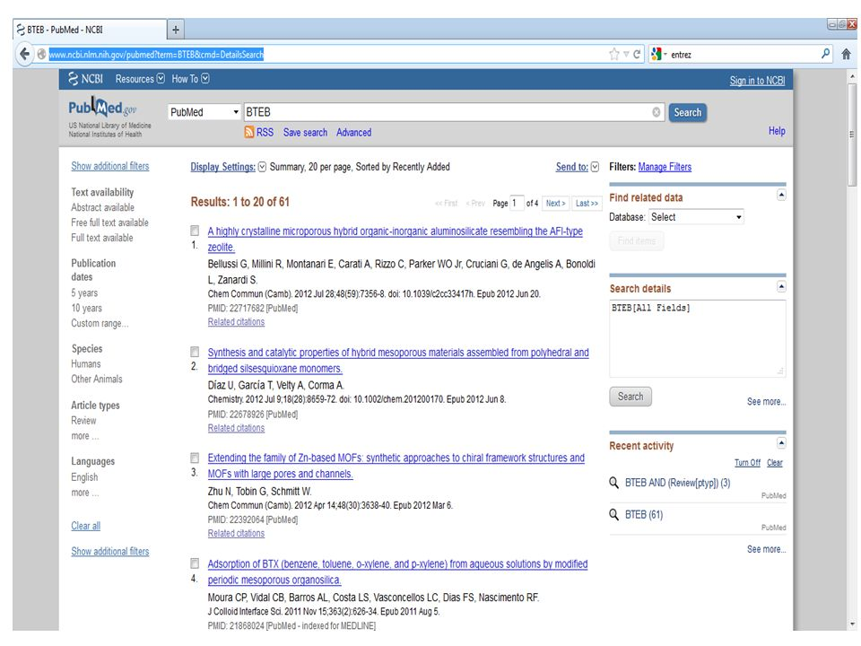 BTEB pubmed search result