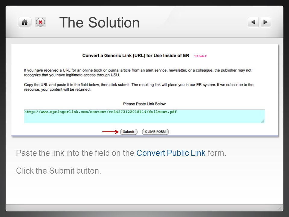 Converting Public URLs for Use in USU ER Prepared by the LRC