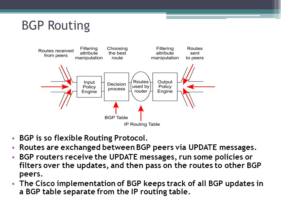 BGP Routing BGP is so flexible Routing Protocol.