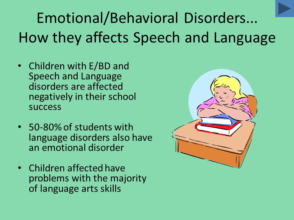 Definition & Characteristics IDEA Definition of Serious Emotional Disturbances (SED): A condition exhibiting one or more of the following characteristics over a long period of time and to a marked degree, which adversely affects educational performance:  An inability to learn which cannot be explained by intellectual, sensory, or health factors  An inability to build or maintain satisfactory interpersonal relationships with peers and teachers  Inappropriate types of behavior or feelings under normal circumstances  A general pervasive mood of unhappiness or depression  A tendency to develop physical symptoms or fears associated with personal or school problems. (  Four typical patterns of the disorder are: conduct disorder socialized aggression Immaturity anxiety-withdrawal.