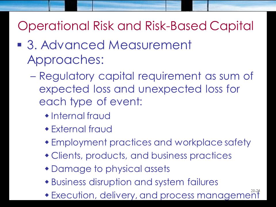 20-26 Operational Risk and Risk-Based Capital  3.