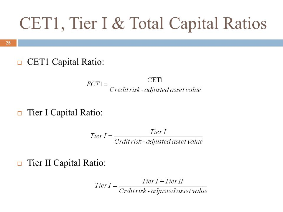 CET1, Tier I & Total Capital Ratios 28  CET1 Capital Ratio:  Tier I Capital Ratio:  Tier II Capital Ratio: