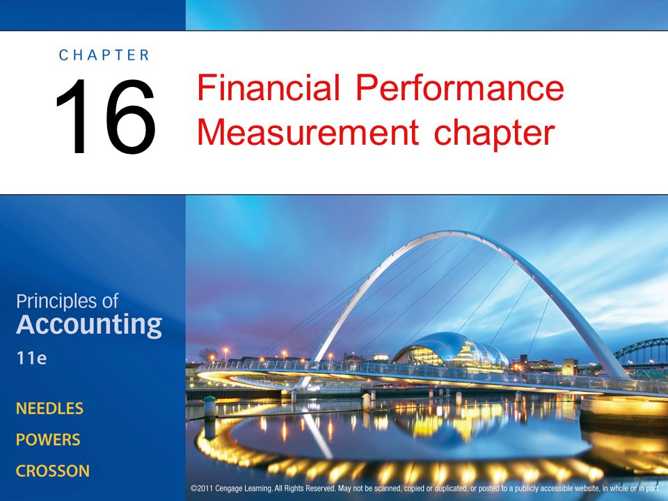 Financial Performance Measurement chapter 16