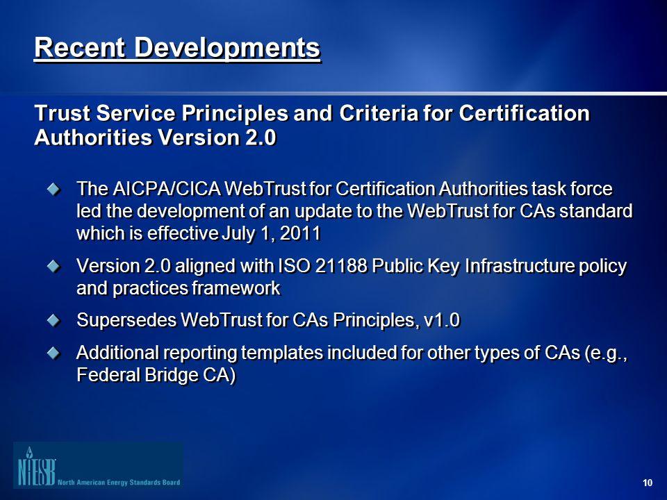 1 Webtrust For Certification Authorities Cas Overview October 2011