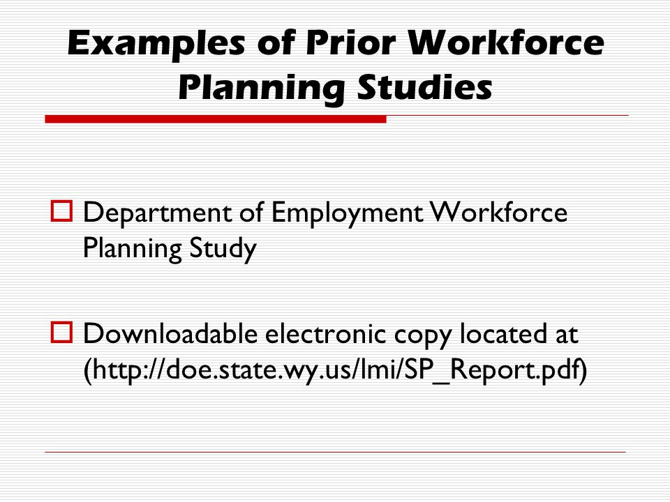 Workforce Planning Survey Conducted by DOE: Research & Planning