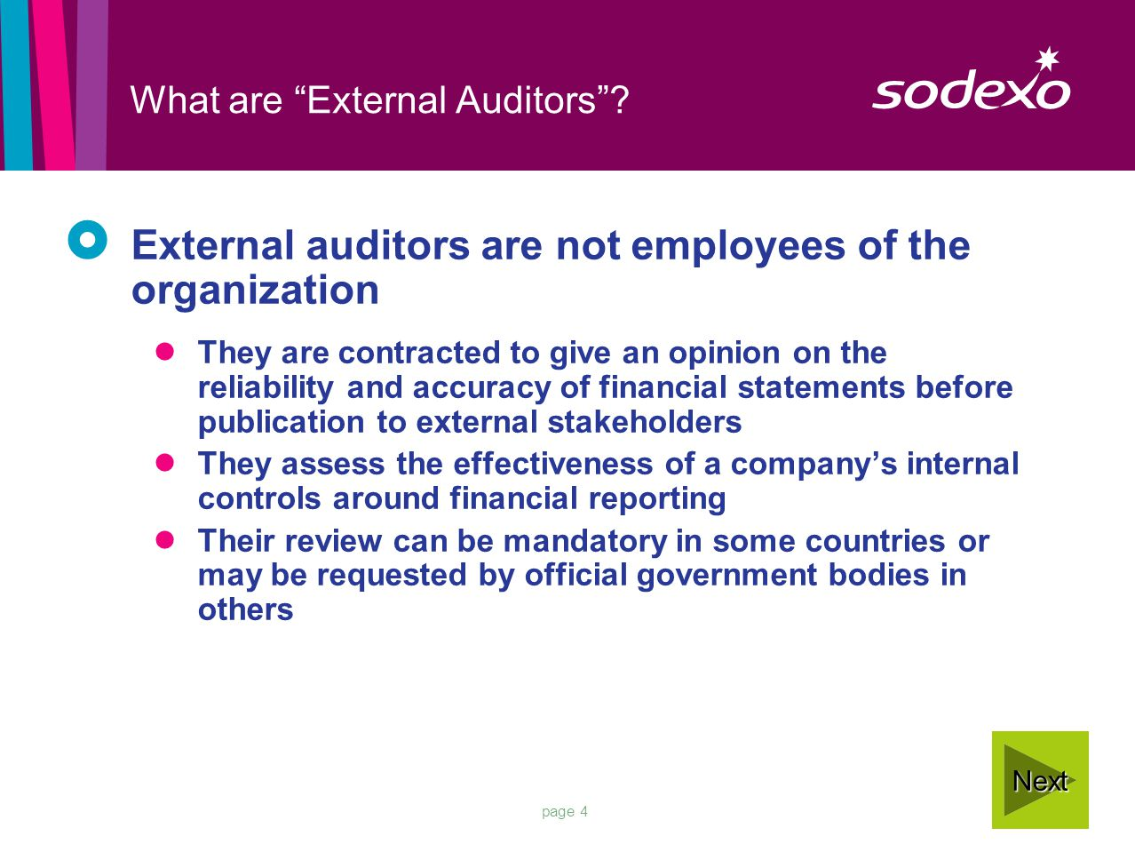 page 4 What are External Auditors .