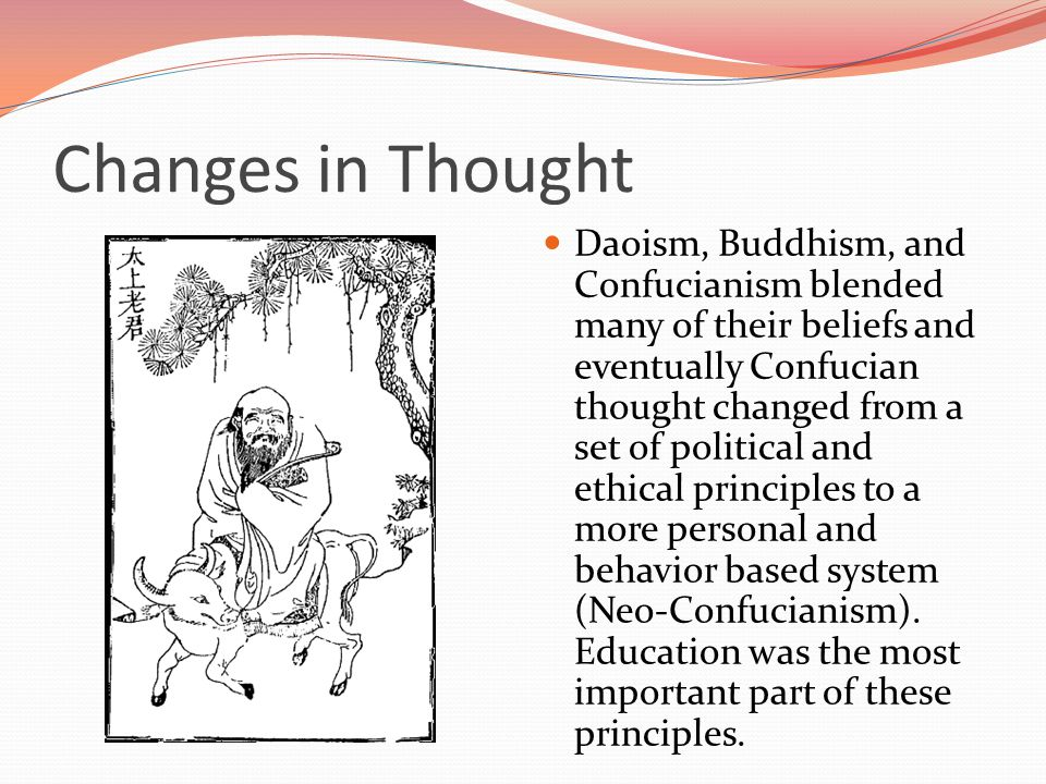 Daoism Daoism also had influence in China.