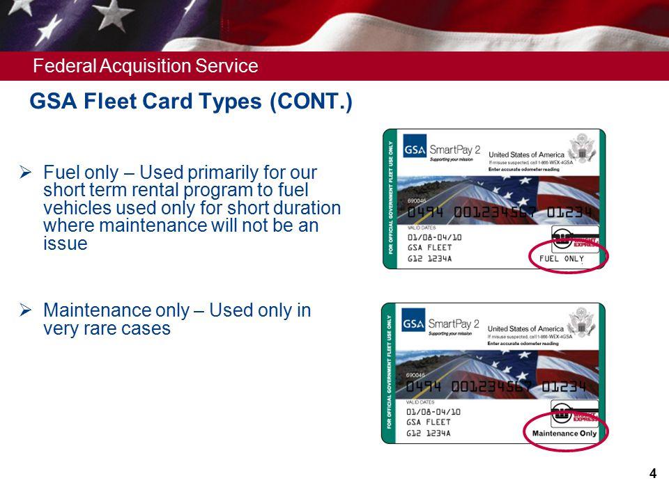 4 federal acquisition - Fleet Card Service