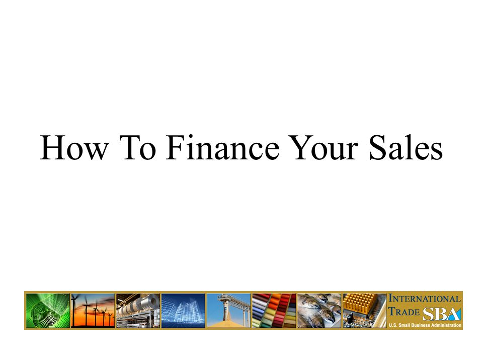 How To Finance Your Sales