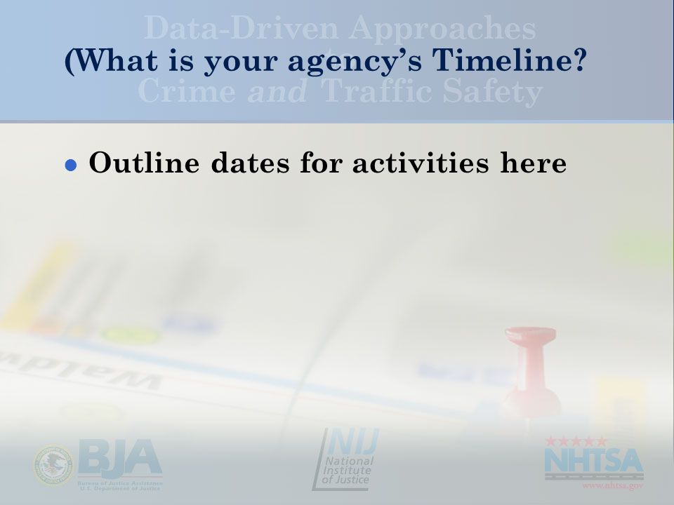 (What is your agency's Timeline Outline dates for activities here