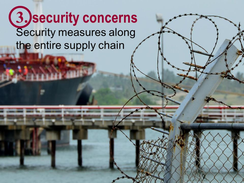 3. security concerns Security measures along the entire supply chain