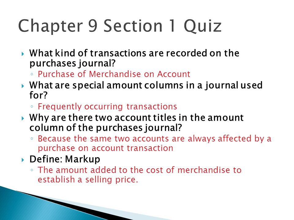  What kind of transactions are recorded on the purchases journal.