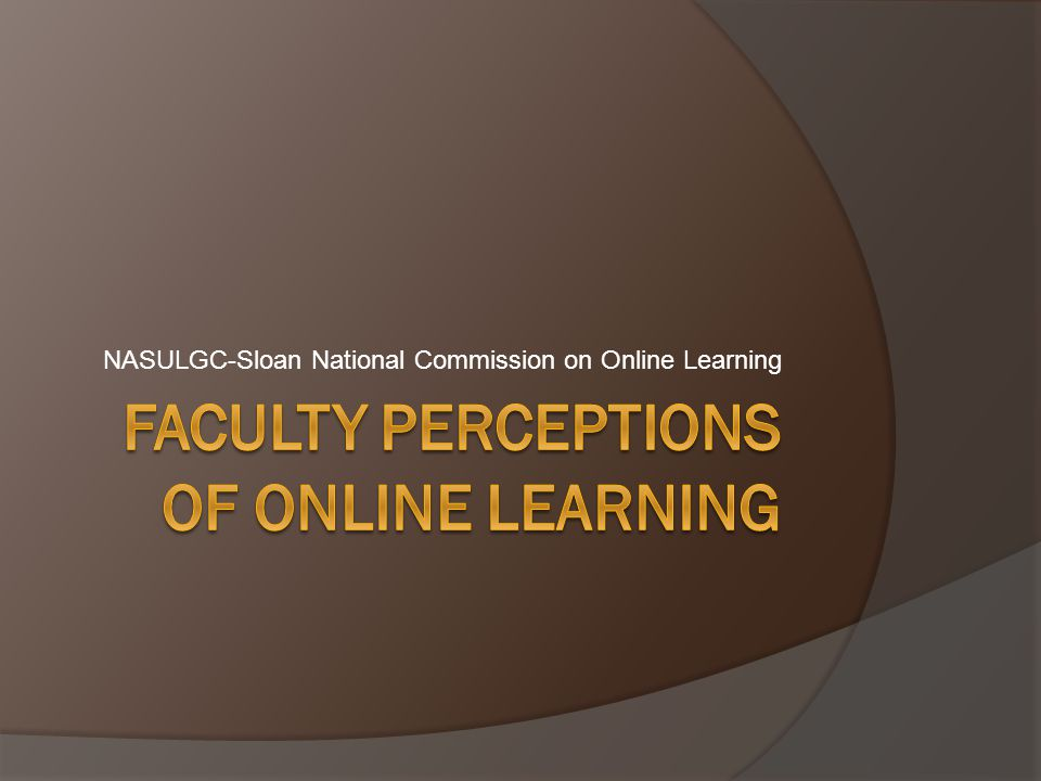 NASULGC-Sloan National Commission on Online Learning