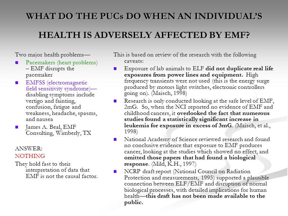 EMF (electromagnetic radiation fields) Findings on Health Dangers ...