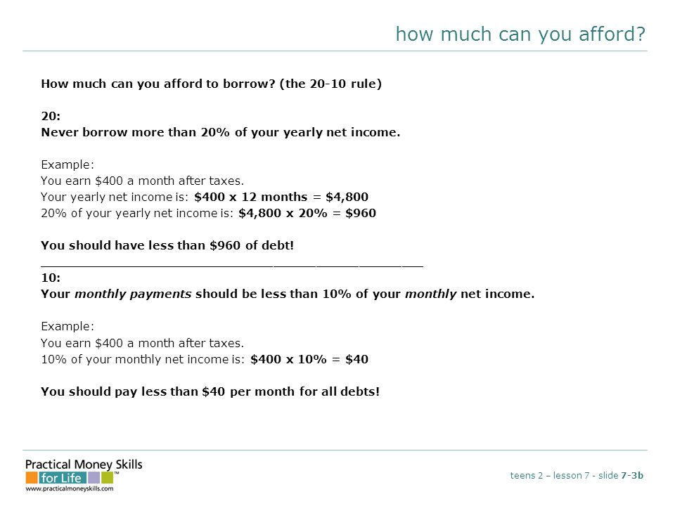 how much can you afford. How much can you afford to borrow.