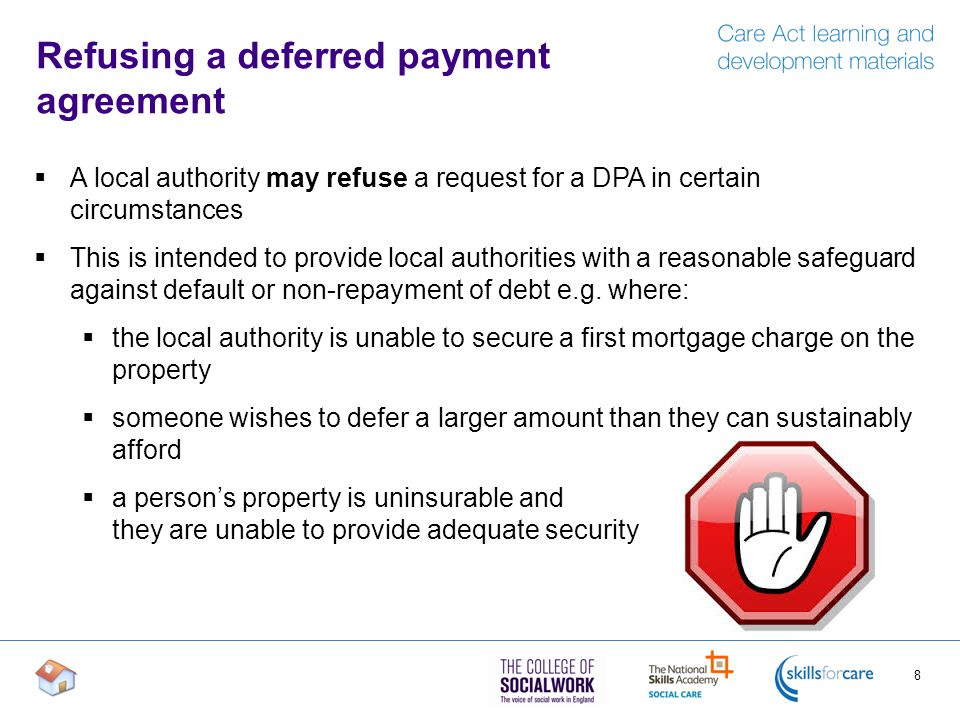 Deferred Payment Agreements Care Act Outline Of Content