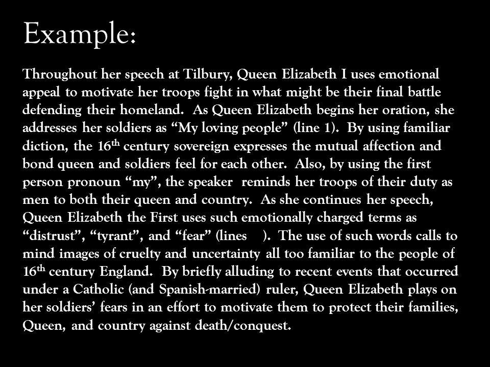 tilbury speech text