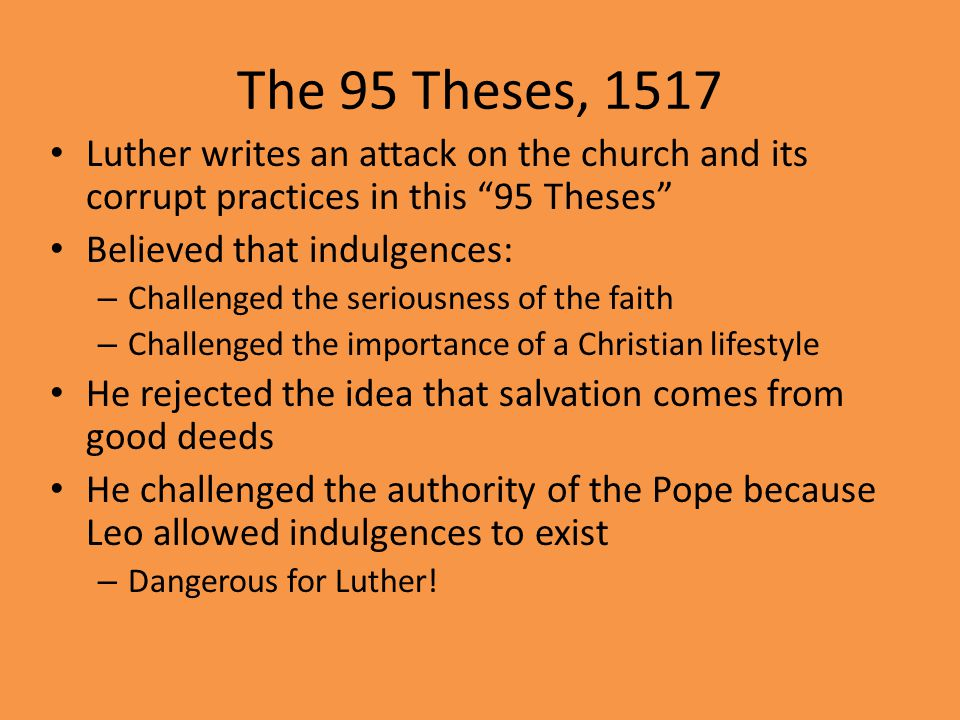6 The 95 Theses