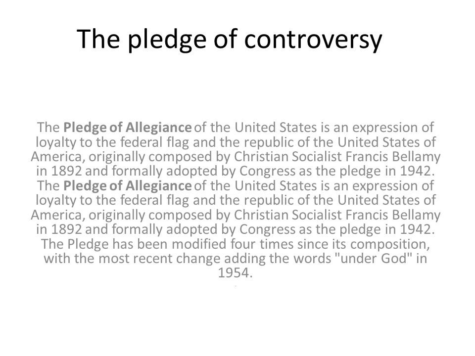 what the pledge of allegiance means to me essay A cause of the pledge of allegiance being banned from school is mostly because of these two i believe that this topic has quite a bit of historic meaning because it basis is on our historical i would like to show in this essay that the pledge of allegiance is an important part, not just in our schools.