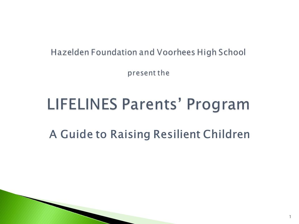 A Guide to Raising Resilient Children 1