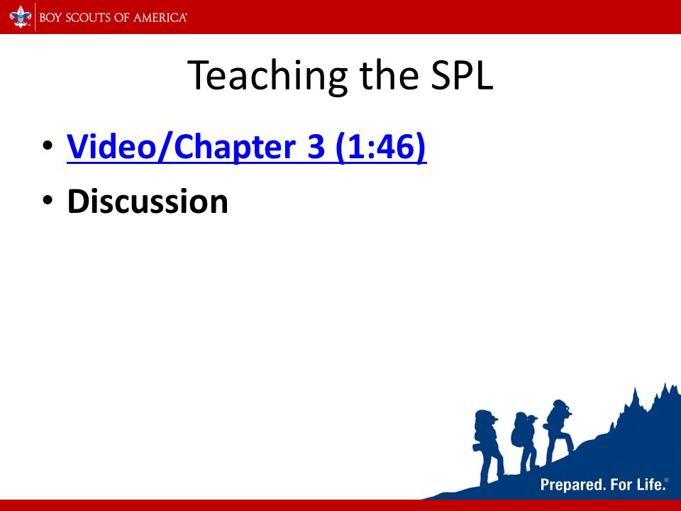 Teaching the SPL Video/Chapter 3 (1:46) Discussion