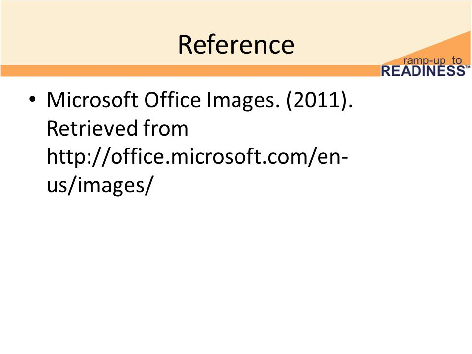 Reference Microsoft Office Images. (2011).