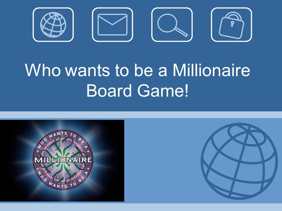 Who wants to be a Millionaire Board Game!