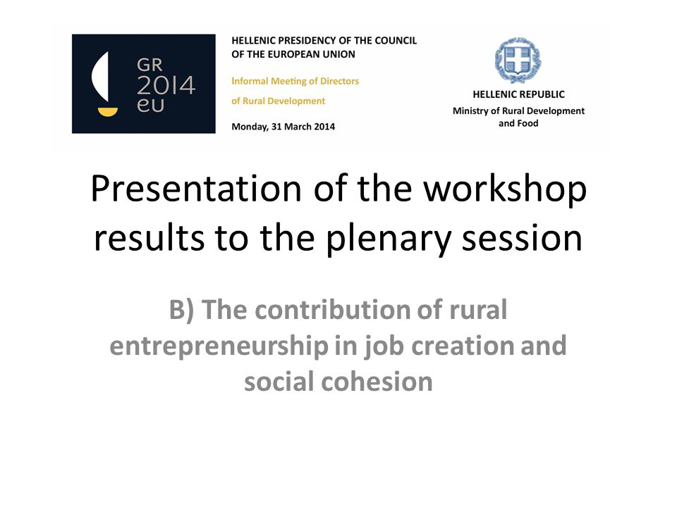 B) The contribution of rural entrepreneurship in job creation and social cohesion