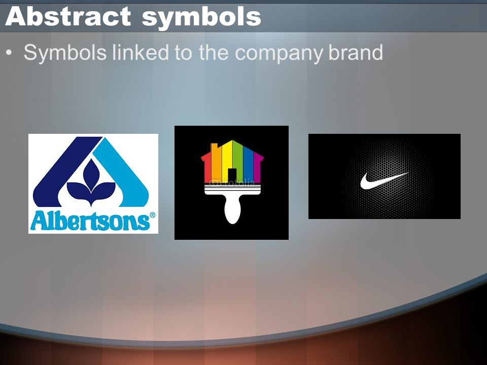 Abstract symbols Symbols linked to the company brand